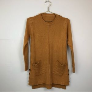 Sweaters - Soft smooth comfortable mustard long sweater